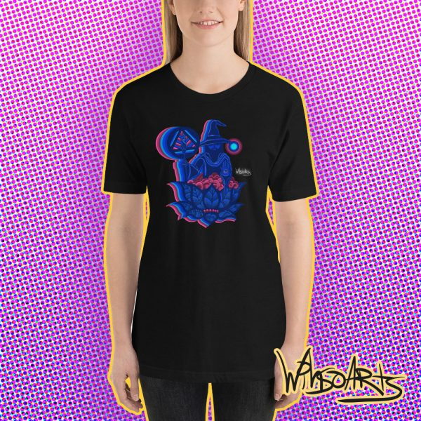Mockup of The Wizard t-shirt